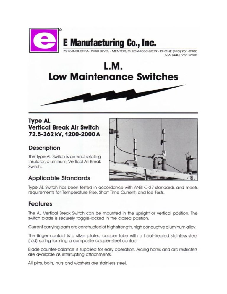 thumbnail of LM Low Maintenance Switches